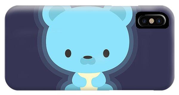 Bed iPhone Case - Cute Teddy Bear Night Light by Nadia Snopek