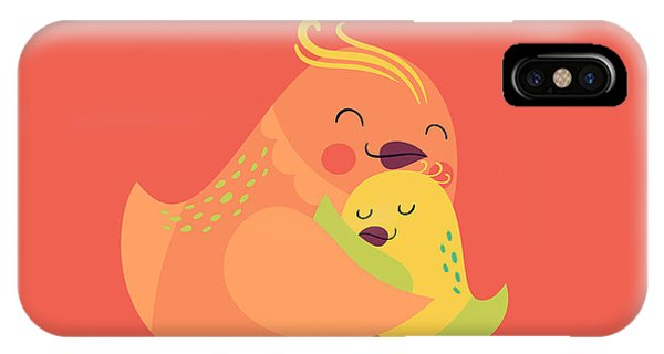 Cute Vector Cartoon Decorative Birds Phone Case by Mascha Tace