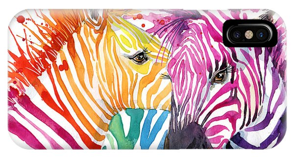 Cute Zebra. Watercolor Illustration Phone Case by Faenkova Elena
