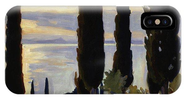 Endless iPhone Case - Cypress Trees At San Vigilio, 1913  by John Singer Sargent