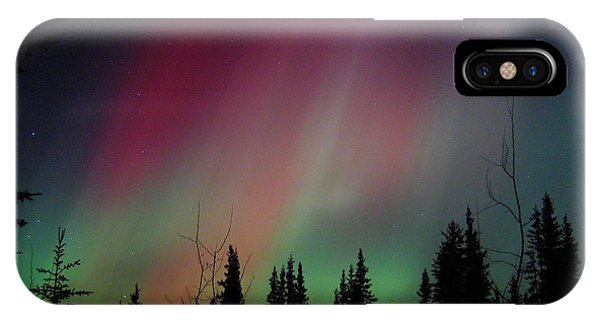 Red Sky iPhone X Case - D. Aurora Borealis Alaska Red Skies by Pinky