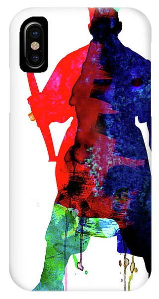 Film iPhone Case - D Maul Watercolor 1 by Naxart Studio