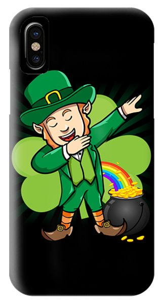 St. Patricks Day iPhone Case - Dabbing Leprechaun St Patricks Day by Flippin Sweet Gear
