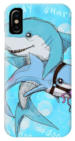 Song iPhone Case - Daddy Shark by Ludwig Van Bacon