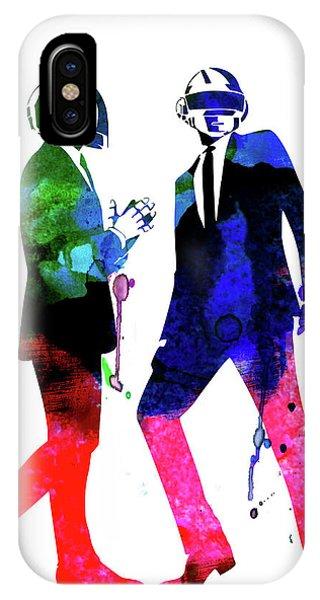 Punk Rock iPhone Case - Daft Punk Watercolor by Naxart Studio