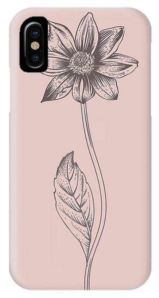 Bouquet iPhone X Case - Dahlia Blush Pink Flower by Naxart Studio