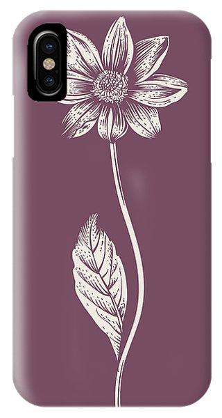 Bouquet iPhone X Case - Dahlia Purple Flower by Naxart Studio