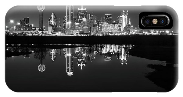 Dallas Texas Cityscape Reflection IPhone Case