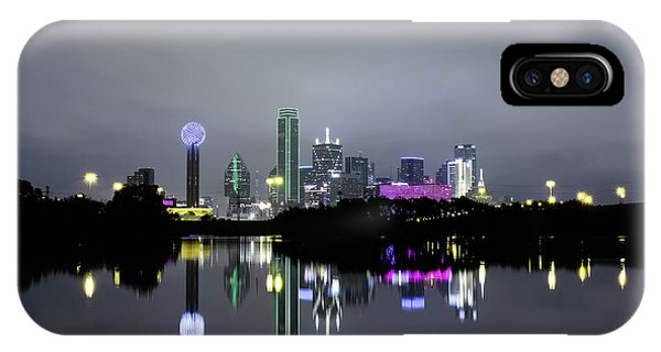 Dallas Texas Cityscape River Reflection IPhone Case