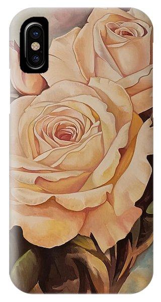 Damask Roses IPhone Case