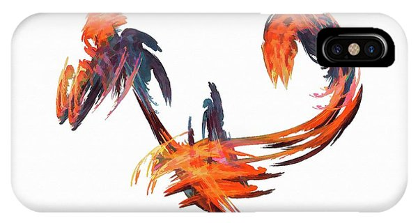 IPhone Case featuring the digital art Dance Of The Birds Orange by Don Northup