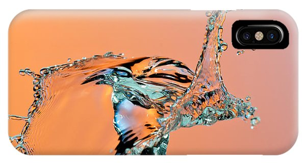 Water Droplets iPhone Case - Dancing Water Droplet High Speed by Circumnavigation