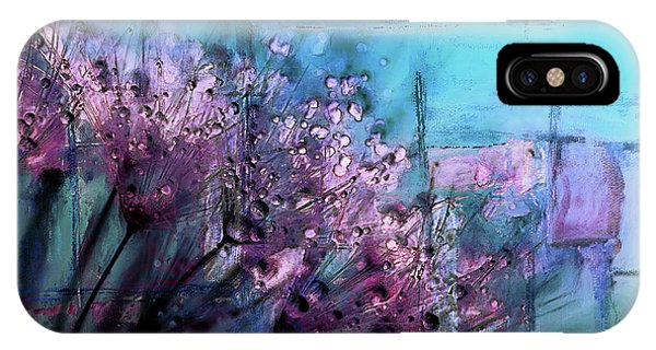 Purple Rain iPhone Case - Dandelion Abstract by Tim Palmer