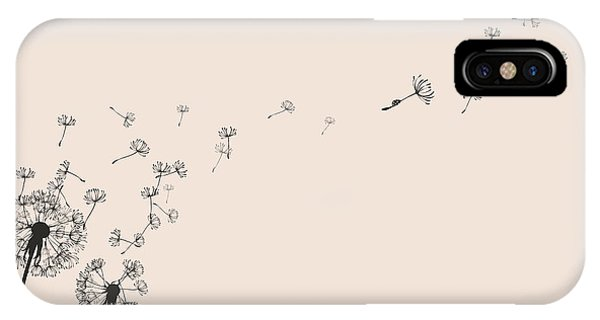 Seeds iPhone Case - Dandelion Silhouette Snail And Ladybug by Eva mask