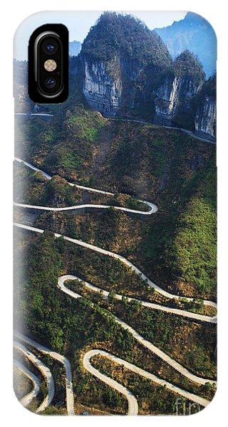 Death iPhone Case - Dangerous Path In China by Kataleewan Intarachote