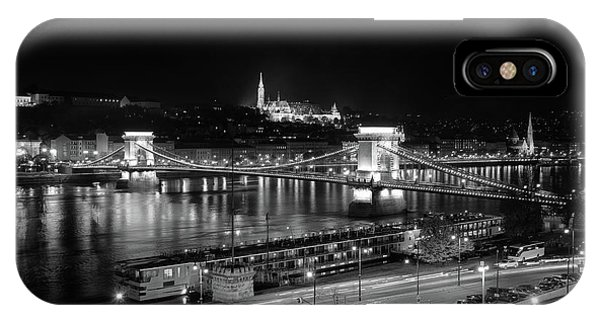 IPhone Case featuring the photograph Danube River At Night by Mark Duehmig