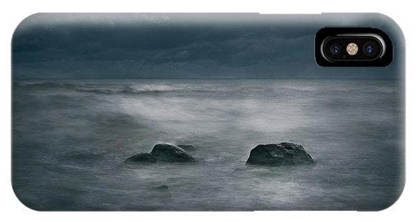 Dark Blue iPhone Case - Dark And Stormy by Scott Norris