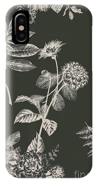 Sketch iPhone Case - Dark Botanics  by Jorgo Photography - Wall Art Gallery