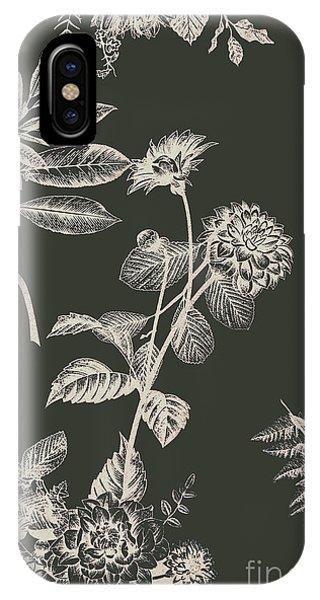 Garden Wall iPhone Case - Dark Botanics  by Jorgo Photography - Wall Art Gallery