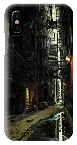 Building iPhone Case - Dark Chicago Alley by Bruno Passigatti