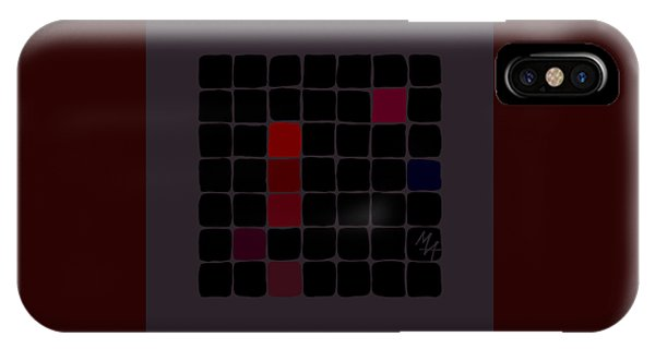IPhone Case featuring the digital art Dark Red by Attila Meszlenyi