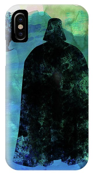 Film iPhone Case - Darth And A Star Watercolor by Naxart Studio