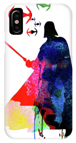 Film iPhone Case - Darth Fighting Watercolor 1 by Naxart Studio