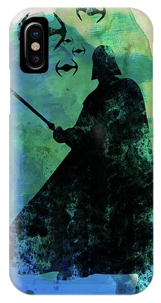 Film iPhone Case - Darth Fighting Watercolor by Naxart Studio