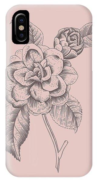 Bouquet iPhone X Case - Datura Purple Flower by Naxart Studio