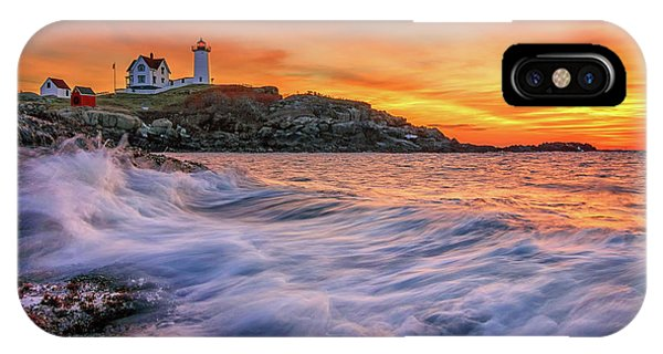 Dawn At Cape Neddick Lighthouse IPhone Case