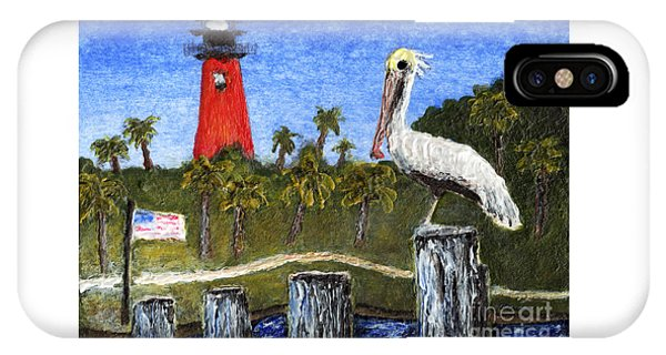Aceo Dawn At Jupiter Inlet Lighthouse Florida 52a IPhone Case