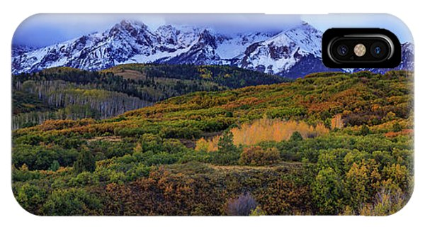 Dawn At The Dallas Divide Panoramic IPhone Case