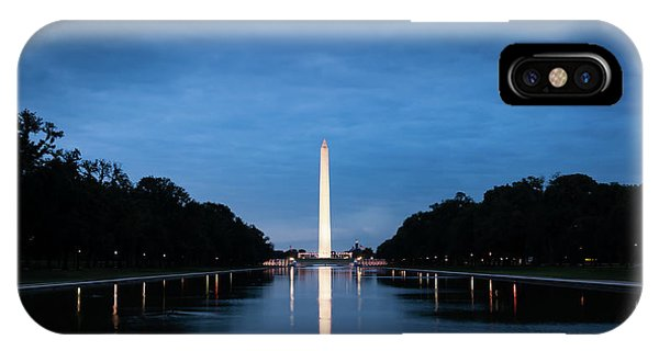 Dawn Reflections Of The Washington Monument IPhone Case