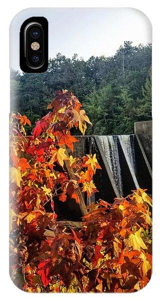 IPhone Case featuring the photograph De Soto Falls In Autumn by Rachel Hannah