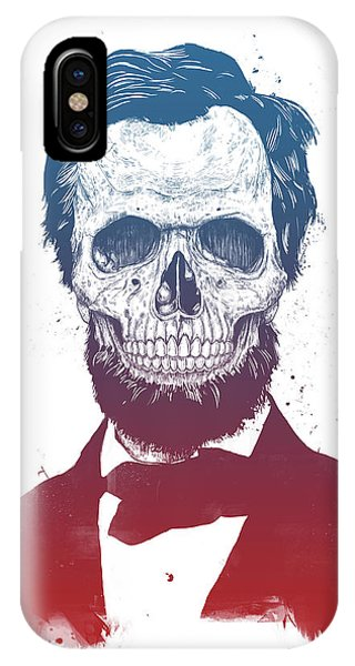 United States Presidents iPhone Case - Dead Lincoln by Balazs Solti