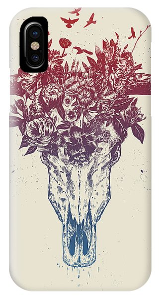 Bull iPhone X Case - Dead Summer by Balazs Solti