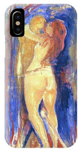 Anima iPhone Case - Death And Life - Digital Remastered Edition by Edvard Munch