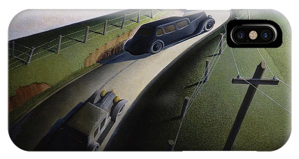 Accident iPhone Case - Death On The Ridge Road, 1935 by Grant Wood