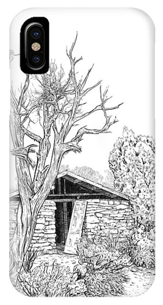 Decay Of Calamity The Half Life Of A Dream Black And White  IPhone Case