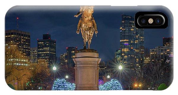 December Evening In Boston's Public Garden IPhone Case