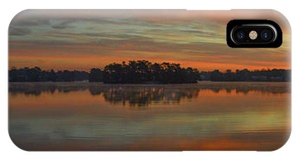 December Sunrise Over Spring Lake IPhone Case