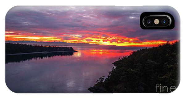 Whidbey iPhone Case - Deception Pass Sunset Landscape by Mike Reid