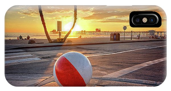 iPhone Case - Decorative Beach Ball At Oceanside Pier by Ann Patterson