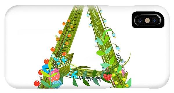 Decorative Botanical Elegant Alphabet Phone Case by Popmarleo
