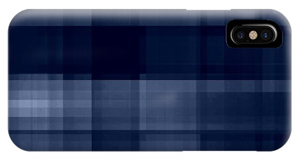 IPhone Case featuring the digital art Deep Blue Plaid by Rachel Hannah
