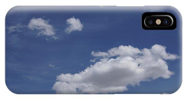 Deep Blue Sky And Fluffy Cumulous Cloud IPhone Case