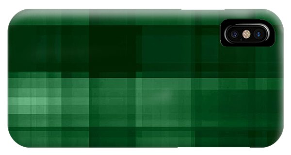 IPhone Case featuring the digital art Deep Green Plaid by Rachel Hannah
