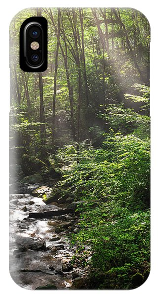 Deep In The Forrest - Sun Rays IPhone Case