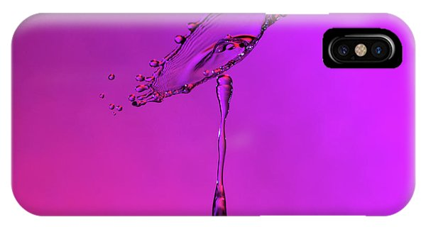IPhone Case featuring the photograph Deep Purple Water Drop Collision by SR Green