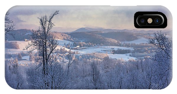 Deer Valley Winter View IPhone Case